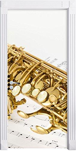 sassofono-su-carta-nota-come-murale-formato-200x90cm-telaio-della-porta-adesivi-porta-porta-decorazi