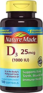 Nature Made Vitamin D3 1000 Iu 90 + 10 Liquid Softgels