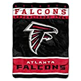 NFL Atlanta Falcons Plush Raschel Blanket, 60 x 80-Inch, Red