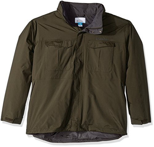 Columbia Men's Big-Tall Dr.Downpour Jacket, 3X, Peat Moss