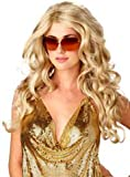 Wig women long blonde Side parting Curly Carnival Carnival