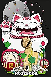 "Notebook: Neko In The Magical World Maneki , Journal for Writing, College Ruled Size 6"" x 9"", 110 Pages"