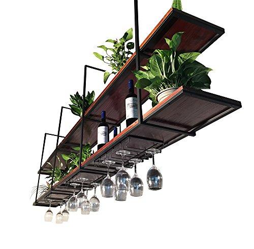 ZRX-Flower Rack Retro Decke-Art Blumen-Stand-festes Holz-Wand-hängendes Wand-Regal verschobenes Decken-Speicher-Gestell-Handels-und Haus-Wein-Gestelle (größe : 150×30×80cm) -