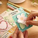 Affe 4pcs Kawaii Vintage de flores para tartas planificador de memo Pads Escuela Suministros Papelería Notas Adhesivas Cuaderno Post It Adhesivo de Papelaria