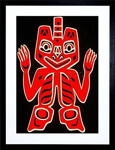 PAINTING NATIVE AMERICAN BLANKET HAIDA PEOPLE FRAME ART PRINT PICTURE F12X703