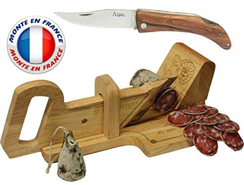 Le Berger : Guillotine, Trancheuse à Saucisson La montagnarde & Couteau Pliant \