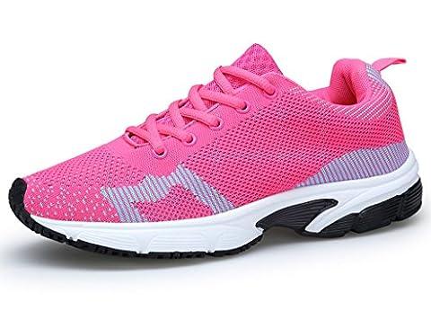 XKMON Femme Chaussures de course running sport Compétition entraînement basket ete baskets XZ106W Rose Red 39