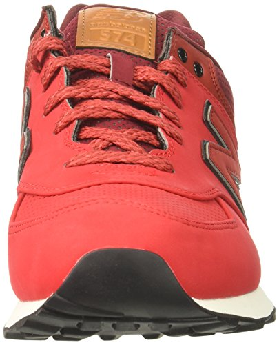 New Balance 574v1 Core Plus, Sneaker Basse Uomo Rosso