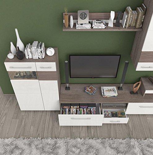 TV-Board Farbe: Dunkelbraun 35x198x49 cm