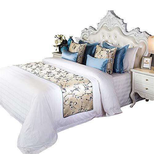 LINGGE Bettläufer Dekorativer Bettschal des Polyester-Baumwollschlafzimmerhotel-Bettwäscheschutzes, weicher, lichtechter Schal protectio -