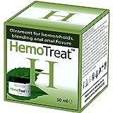 HemoTreat Pomada para las Hemorroides, Tratamiento Rápido, Eficaz y Seguro para el Alivio del Síntoma Hemorroidal