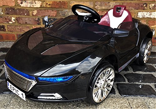 Kids R8 Spyder Style Roadster Sports Car with Remote Control 12v Electric / Battery Ride on Car - Black