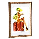 WOLTU #315 Bilderrahmen Bildergalerie Fotogalerie, Foto Collage Galerie, Kunststoff und Echtglas, New Life Style, Bronze, 30x40 cm