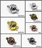 INWARIA Magnetverschluss Magnet stark Verschluss Kettenverschluss Schmuckverschluß MV-14,12x6 mm,goldfarben