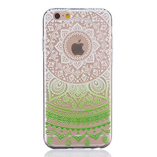"iPhone 6S Coque,iPhone 6 Bling Case,iPhone 6S Cover - Felfy Ultra Mince Slim Gel TPU Silicone élégant Ultra Thin Bling Plating Case Coque Bumper Cas Housse pour Apple iPhone 6/6S 4.7"" (Losange Violet) Pente Vert"