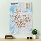 Maps International Munro Bagging Collect and Scratch Off Travel Map for Walkers - gift tube - 59 x 84cm