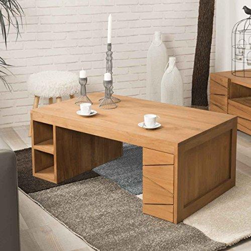 wanda collection Table de Salon rectangulaire en Teck Sérénité 100 x 60