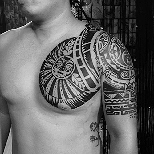 1 Set temporäre Tattoo Aufkleber Set WWE Stern Schulter Tattoo Aufkleber Brust herrschsüchtig perfekt 3 Stück