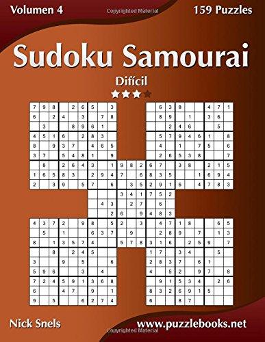 Sudoku Samurai - Difícil - Volumen 4 - 159 Puzzles: Volume 4