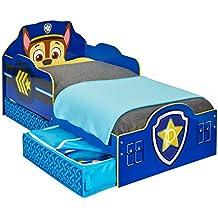 La Patrulla Canina - Cama infantil para niños pequeños con cajón inferior