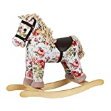 Picture Of Heritage Deluxe 54cm Vintage Flower Print Rocking Horse