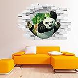 JUNMAONO Kung Fu Panda Wandaufkleber/Wandgemälde/Wand Poster/Wandbild Aufkleber/Wandbilder/Wandtattoo/Pinupbild/Beschriftung/Pad einfügen/Tapete/Tapezieren/Tapeten/Wand Zeitung/Wandmalerei/Haftnotiz/Fühlen Sie sich frei zu kleben/Instant Aufkleber/3D-Stereo-Wandaufkleber