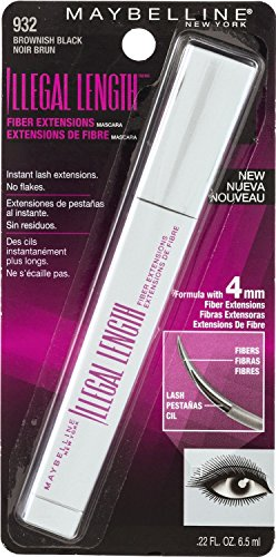 Maybelline Illegal Length Mascara 932 Brownish Black (2 Pack) by Maybelline
