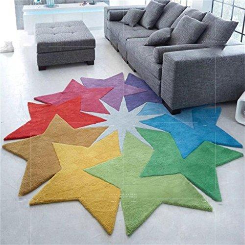 Alfombra suave y cómodo / elegante Personalidad Color Estrella Creativo Irregular Alfombra Mesa de Café Dormitorio Dormitorio Salón Sofá Alfombra gruesa Necesidades familiares ( Tamaño : 120 Cm X 120 Cm )