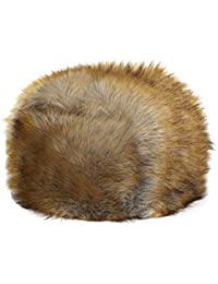 Sombrero mujer gorro cálido gorra orejeras con pelo sintético Retro falsa  peluche de zorro sombrero invierno 83c89e00af4