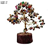 #1: GLOBAL SERVICES_Feng Shui Natural Multi color Healing Gemstone Crystal Bonsai Fortune Tree SIZE ( 8
