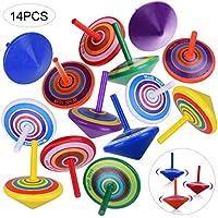 /Übung Kinder H/ände und Auge Koordination Baoblaze 4er-Pack Handgefertigte Bemalten Holz Kreisel Kinder Holzspielzeug