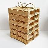 UKhobbyStore-fantaisie-Palette-Dessous-de-Tasse-en-bois-Stands-Idal-Bureau-intressante-miniature-paillasse-Verre-Fantaisie-Ide-Cadeau-Bois-marron-6-Pack