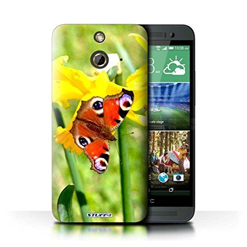 Kobalt® Imprimé Etui / Coque pour HTC One/1 E8 / Fleur jaune conception / Série floral Fleurs Papillon