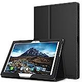 MoKo Funda para Lenovo Tab 4 10 - Ultra Slim Función de Soporte Plegable Smart Cover Stand Case - Negro