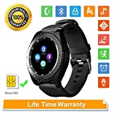 Womdee Orologio Intelligente Bluetooth Sport, Fitness Tracker Watch con Telecamera Nascosta SIM Card Slot Touch Screen Sleep Monitor Calorie contatore Activity Tracker Orologio per iOS Android