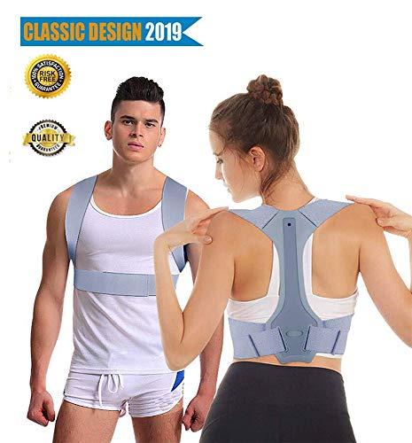Sylanda Geradehalter zur Haltungskorrektur, Schulter Rücken Haltungsbandage Verstellbare und Geradehalter eine Gesunde Haltung ideal zur Therapie für Haltungsbedingte Nacken Rücken,Schulterschmerzen