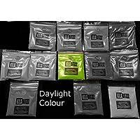 Ultra brilla en la oscuridad fluorescente UV Polvo más grandes 50G–utilizado para brillo estante o resina joyas 50 g verde lima