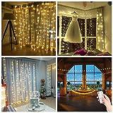 3*3m 300er LED Diamant Lichtvorhang Fernbedienung Home Dekorations Licht IP44 wasserfest Kupferkabel LED Lichterketten für Weihna...