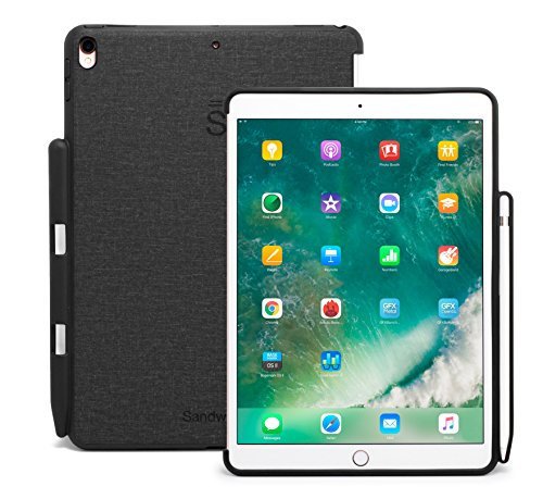 Sandwich iPad Pro 12.9-inch Case Prime Buddy Cover - Perfect Match For Apple Smart Keyboard and Cover With Pencil Holder (Charcoal Grey) (12.9)