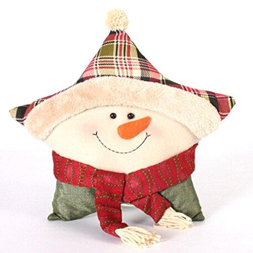 Kissen Damen, DoraMe Frauen Weihnachten Kissen Weihnachtsschmuck Weihnachtsmann Schneemann Familie Kissen (40*40cm, A) (Herr Schneemann Erwachsene Herren Kostüme)