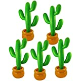 5 x Inflatable Cactus with Potted Base - (86cm)