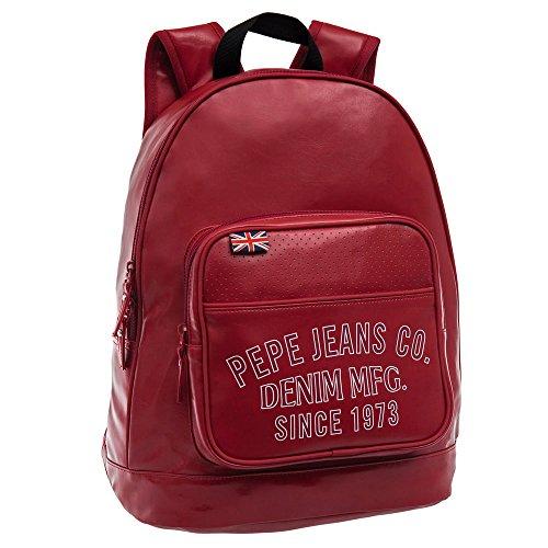 Pepe Jeans Mochila Portaordenador, Diseño Casual, Color Rojo, 16.93 Litros
