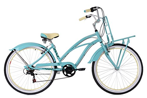 KS Cycling Damen Beachcruiser Carolina Fahrrad, Türkis, 26