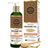 Morpheme Remedies Organic Sesame Pure ColdPressed Oil For Hair, Body, Skin Care, Massage, 200 ml