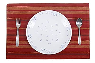 Store Indya Set of 4 Placemats Basic Hand Woven with Pure Cotton - inexpensive UK light store.