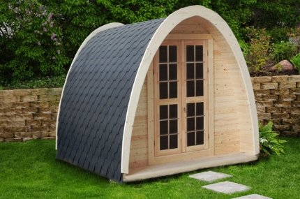 9,2 m² Sauna Pod Deluxe Blockhaussauna Gartensauna Holzsauna Blockhaus Campingsauna