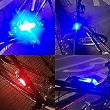 sunnymi USB Wiederaufladbare Rücklichter 5 LED Radfahren wiederaufladbare Fahrrad Schwanz Warnleuchte Hinten Sicherheit (Blau)