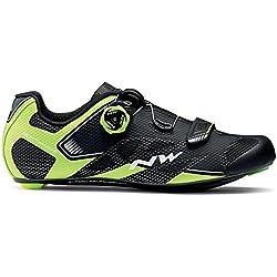 Zapatillas de bicicleta de carretera Northwave Sonic 2 Plus Black / Neon Yellow / White, Tamaño:gr. 46