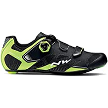 Zapatillas de bicicleta de carretera Northwave Sonic 2 Plus Black / Neon Yellow / White,