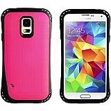 JAMMYLIZARD | Back Cover für [ Samsung Galaxy S5 & S5 Neo ] Robuste Hülle mit verstärktem Kantenschutz, KNALLROSA